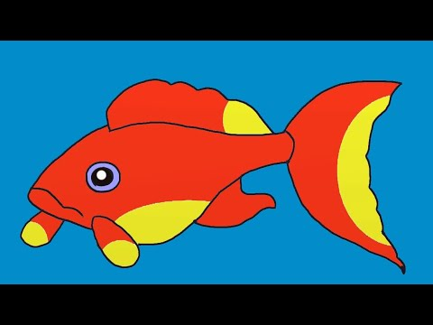How to Draw  a Fish. Fish Drawings for Kids