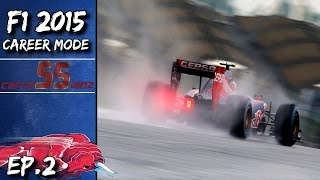 F1 2015 Career Mode! | Carlos Sainz | Episode #2 - Malaysia