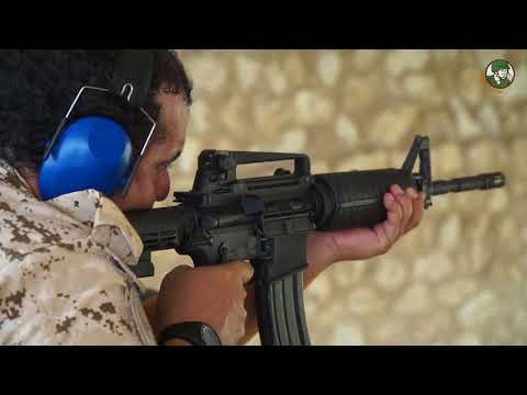 BIDEC 2017 live demonstration armoured small arms Bahrain International Defence Exhibition Day 2