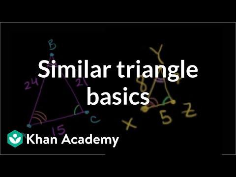 Similar triangle basics   Similarity   Geometry   Khan Academy