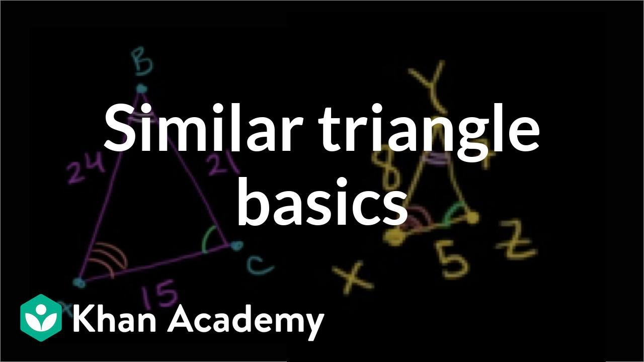 Intro to triangle similarity (video)   Khan Academy [ 720 x 1280 Pixel ]