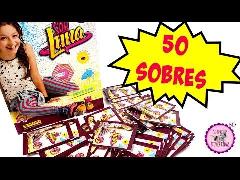 💥 50 Sobres de SOY LUNA💥  Álbum de Cromos Pegatinas Figuritas de la serie Soy Luna