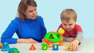 Черепаха ЗНАЙКА и Никита с мамой - Развивающая игрушка для самых маленьких детей
