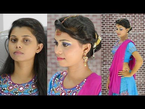 makeup by ethnico-5 minute Garba makeup HINDI : Simple & Easy Garba makeup 2016: Navratri look : Dandiya