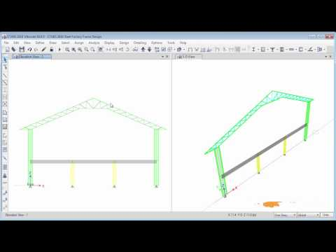 Etabs 2016 Steel Factory Structural Modeling 1/2