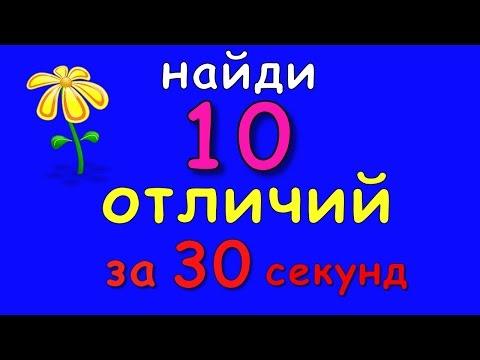 Тест: найди 10 отличий за 30 секунд (Открой видео на весь экран)