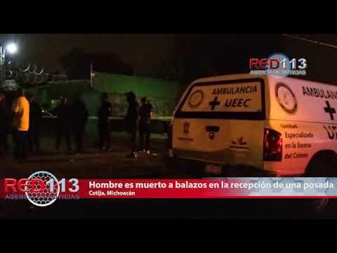VIDEO Hombre es muerto a balazos en la recepción de una posada en Cotija