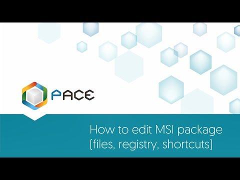 How to edit MSI package (files, registry, shortcuts)