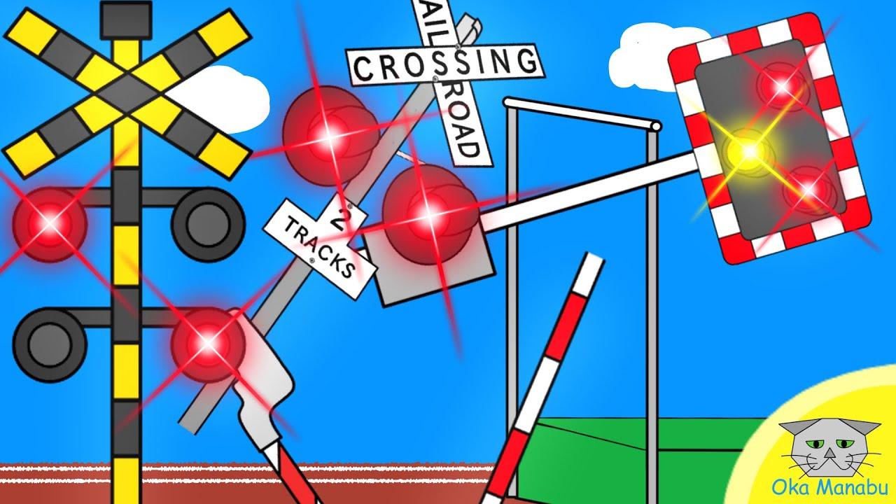 【 ふみきり アニメ 】 踏切 オリンピック 2 Railway Level Railroad Crossing Olympic Pole vault
