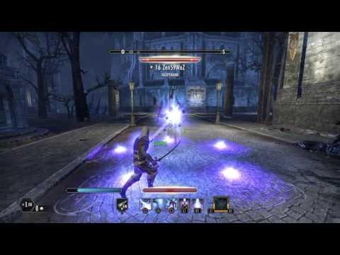 ESO short 1vs1 Sorcerer vs Dragon Knight