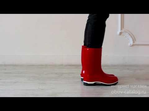 Сапоги детские с утеплителем Nordman DROP ПВХ, красный