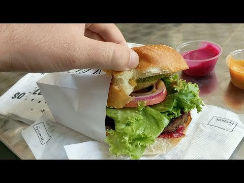 We tried a burger from the chain that wants to be the McDonald's of vegan fast food
