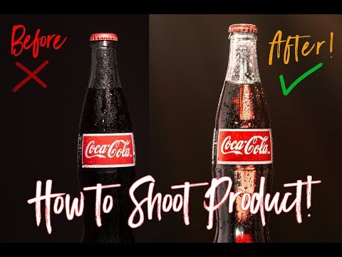 How to shoot professional commercial style product photography on a budget!