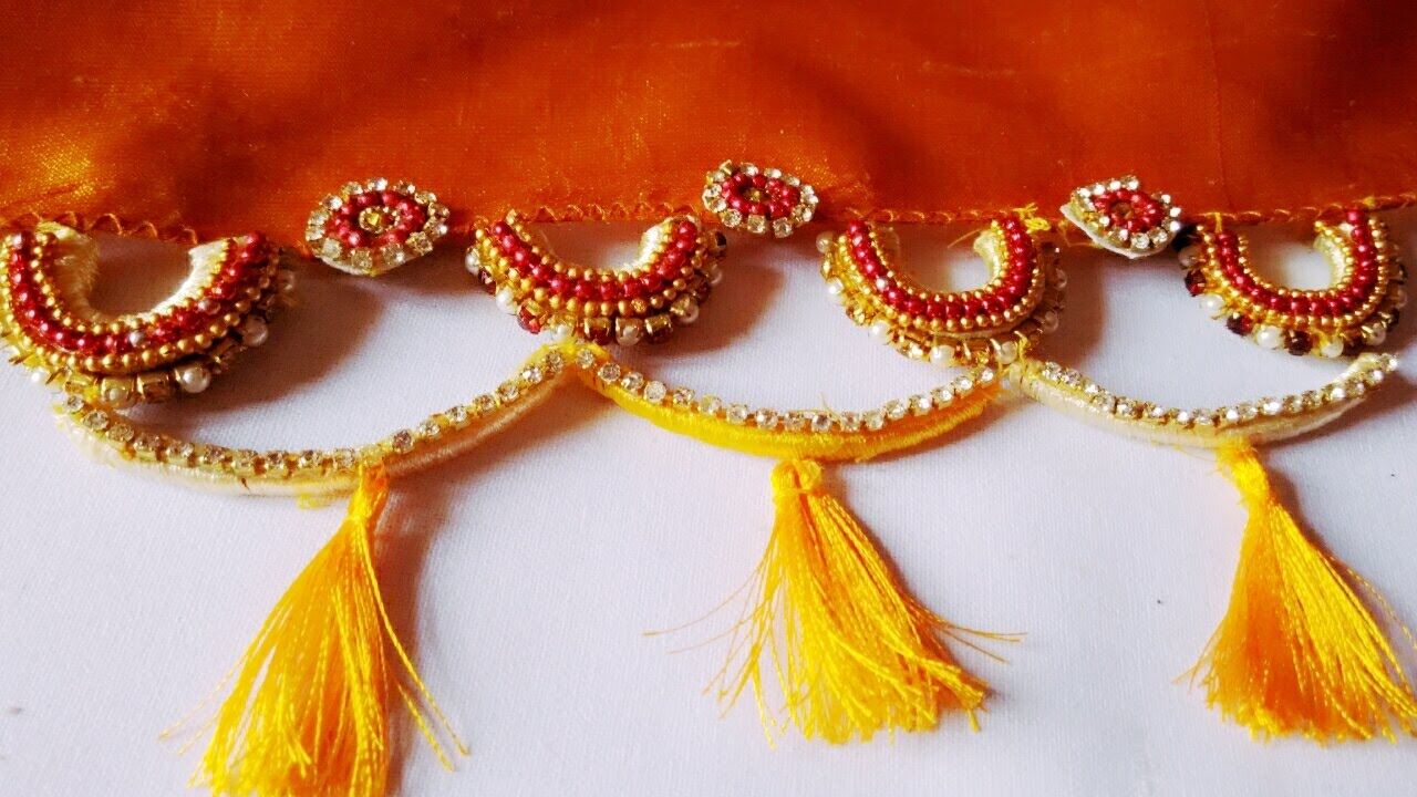 use old bangles for saree kuchulu different idea in