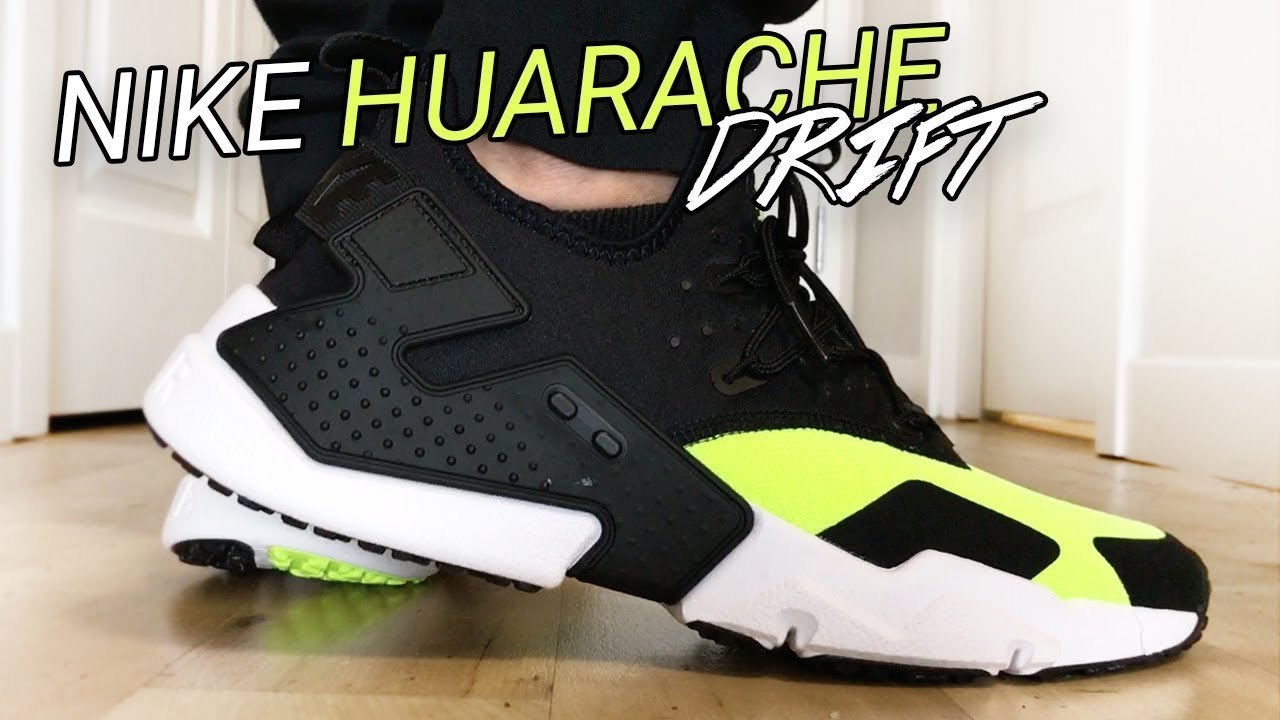 2444b20c8b7 Nike Air Huarache Run Drift Black / Volt - Unboxing, On Feet, & Overview