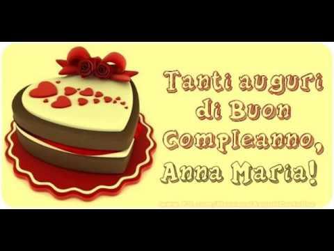 Buon Compleanno Anna Maria