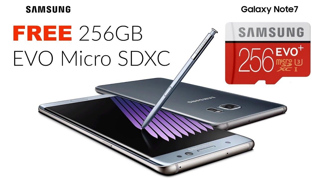 samsung 256gb micro sd. how to save $249 on galaxy note 7 free samsung 256gb evo micro sdxc card zimaleta tech vlog - youtube 256gb sd d