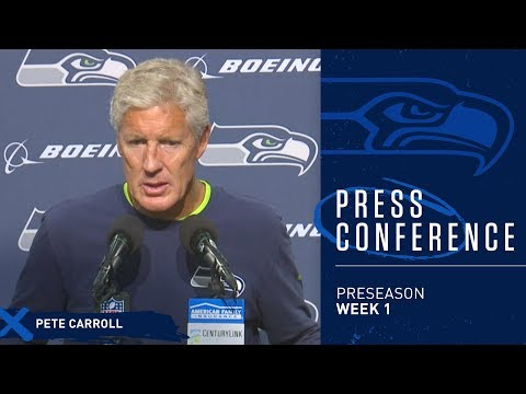 Seahawks Head Coach Pete Carroll Postgame Press Conference vs Colts