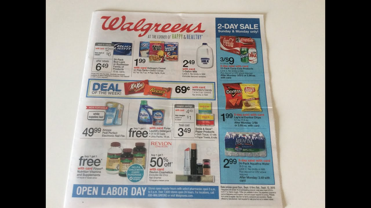 Walgreens Store Ad Preview for deals starting: 9/6-9/12!