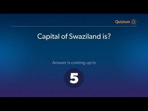 Capital of Swaziland is?   Countries and Capitals Quiz