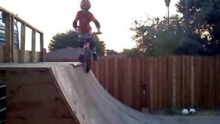 8 year old BMX ramp rider Braeden Davis