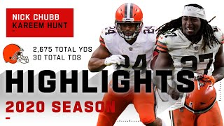 Nick Chubb & Kareem Hunt Full Season Highlights
