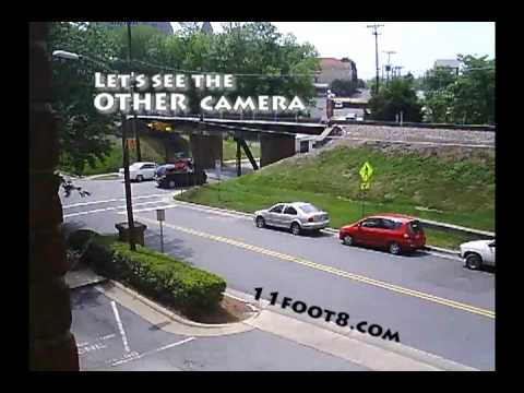 Camper loses A/C unit under bridge