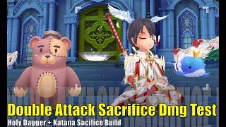 Double Sacrifice Build Damage Test - Royal Guard - Ragnarok Mobile