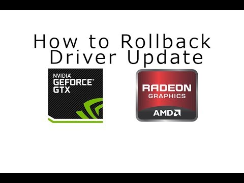 How to Roll Back Nvidia and  Radeon Graphics Driver Update in Windows 10