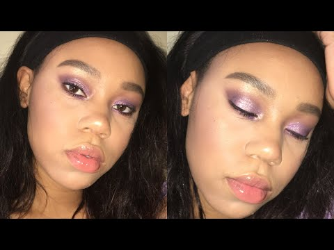 Purple Smokey Eyeshadow Tutorial w/ Jaclyn Hill Morphe Palette thumbnail