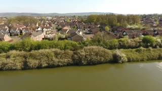 Gloucestershire area from drone, Phantom 4