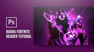 "Photoshop Tutorial: How to make a Fortnite Season X Twitter header ""Bugha"" 