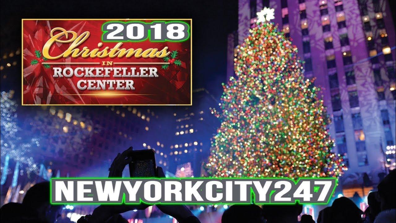 2018 Rockefeller Center Christmas Tree with Lights - New York City, 10111 - YouTube
