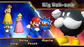 Mario Party 9 Party Mode Bob-Omb Factory - Mario vs Luigi vs Peach vs Daisy