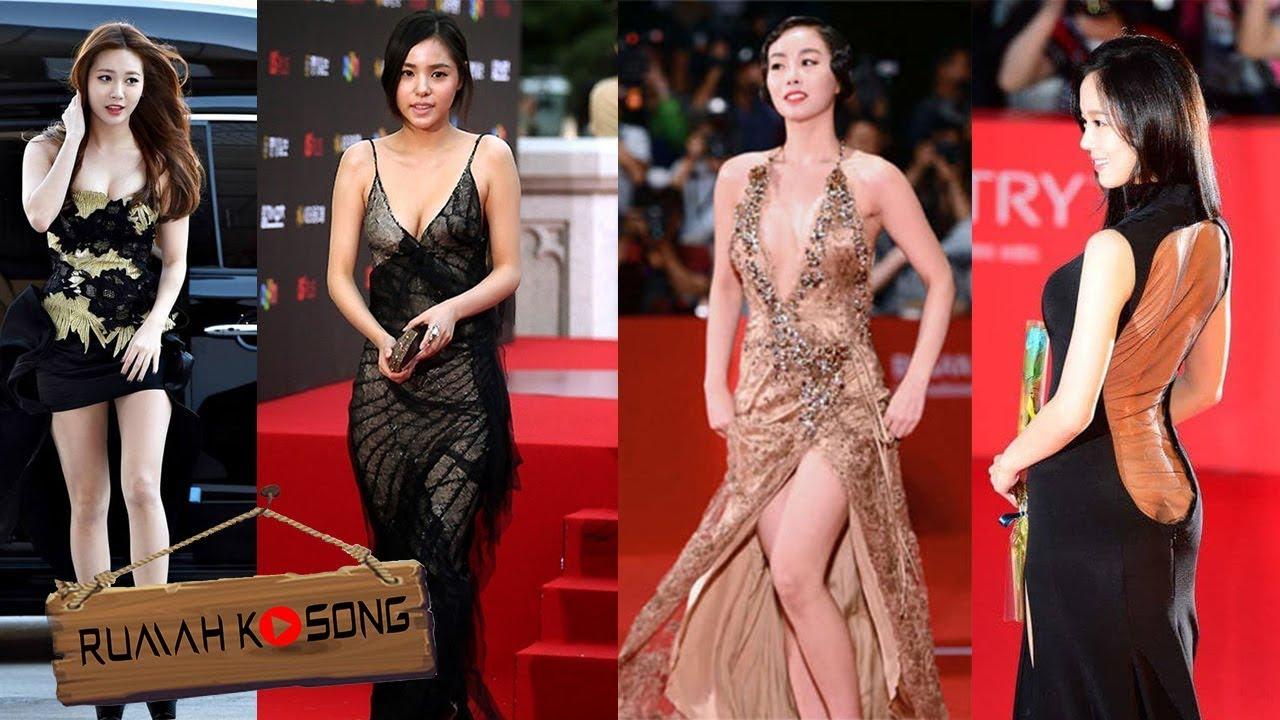 Foto Baju Artis Korea Bikin Tak Berkedip Gaun Terbuka Artis Korea Di Atas Red Carpet Youtube