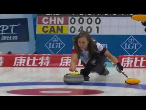 2017 WWCC. Draw 1 - China vs Canada (TSN Highlights)