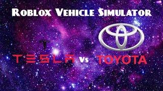 Testla vs Toyota (Roblox Vehicle Simulator)