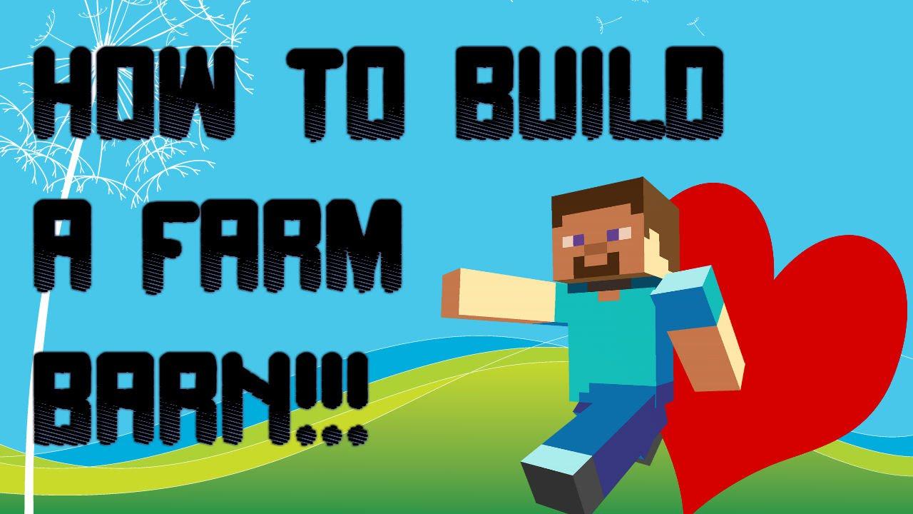 LOVE!! | Minecraft PE: How to build a Farm Barn - YouTube