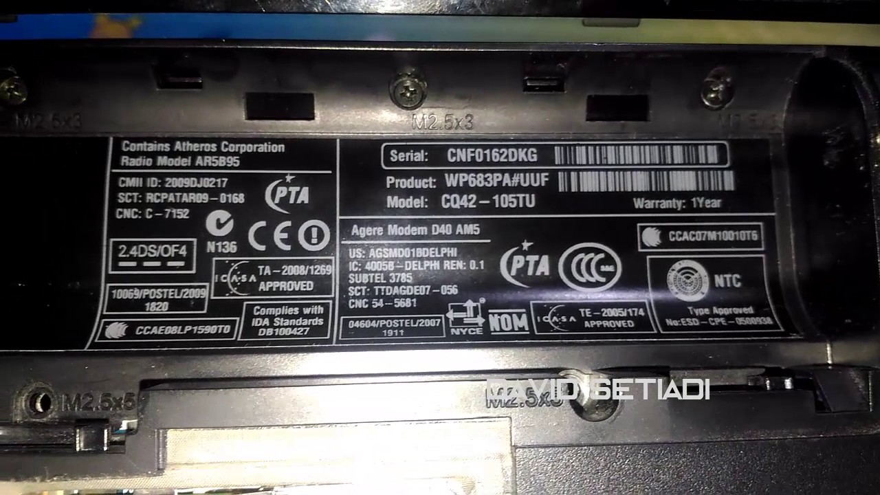 How to change serial number on hp laptop