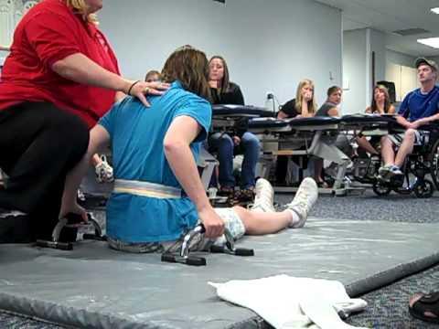 Preambulation exercises for paraplegics