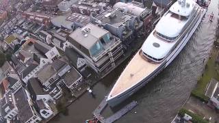 Hybrid Superyacht Savannah amazing drone view