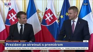 Premiér Pellegrini sa stretol s francúzskym prezidentom Macronom