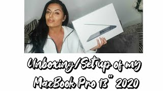 "Macbook Pro 2020  13"" UNBOXING & SET UP SPACE GREY"