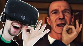 LAUGHING MYSELF SILLY | LA Noire VR - Part 2 (HTC Vive Virtual Reality Wireless)