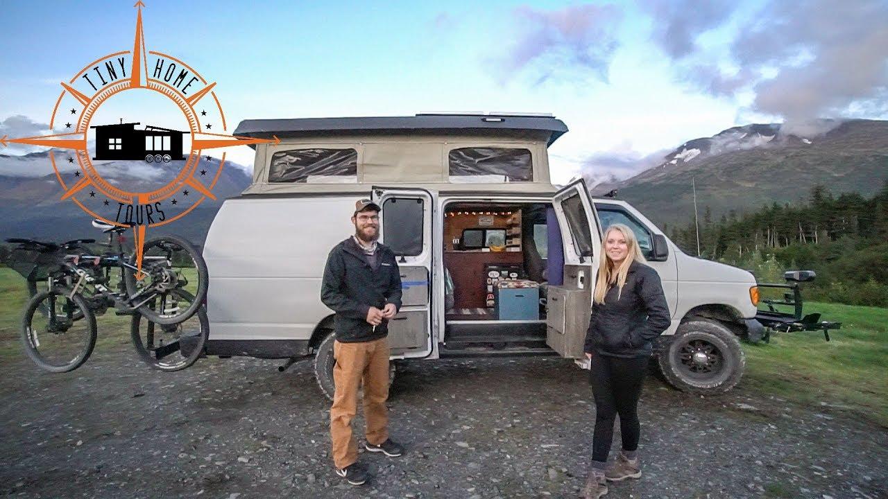 Toyota Tacoma For Sale Near Me >> Ultimate DIY Camper Van ~ Pop Top, Bathroom & Shower Built In - YouTube