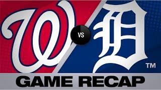Scherzer K's 14 in 2-1 win over Tigers | Nationals-Tigers Game Highlights 6/30/19