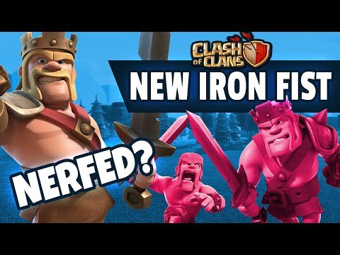 BARB KING's NEW IRON FIST ABILITY - Clash Of Clans