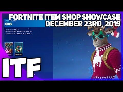Fortnite Item Shop *NEW* DOLPH SKIN AND MORE! [December 23rd, 2019] (Fortnite Battle Royale)