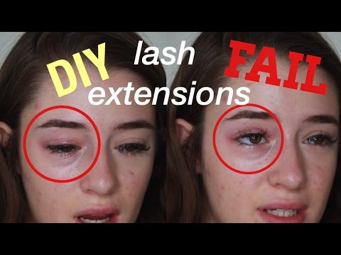 DIY LASH EXTENSION FAIL//I CUT OFF MY LASHES