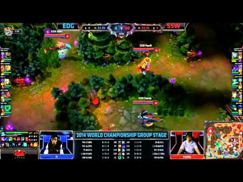 [GER] EDG vs SSW - 2014 World Championship Groupe A und B W1D1